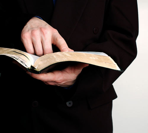 Bible Holding